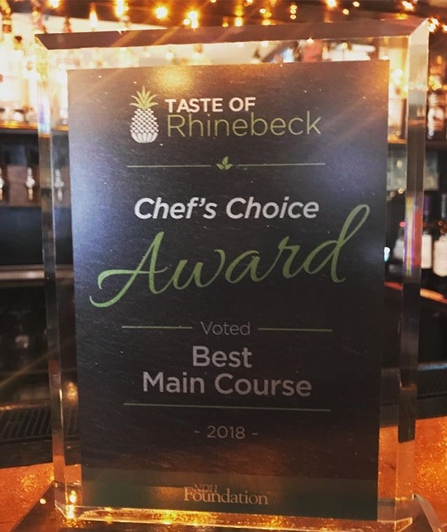 Thank you to everyone who voted Bangers, People's Choice & Chef's Choice-Best Main Course. We appreciate the support, Cheers! #tasteofrhinebeck #rhinebeck