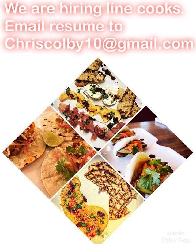 Looking for line cooks.#hudsonvalleyeats #ediblehudsonvalley #rhinebeck