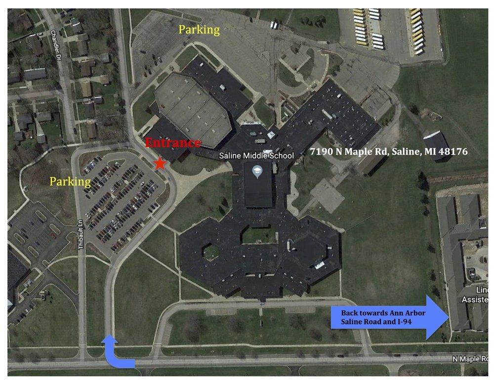 SALINE MIDDLE SCHOOL MAP