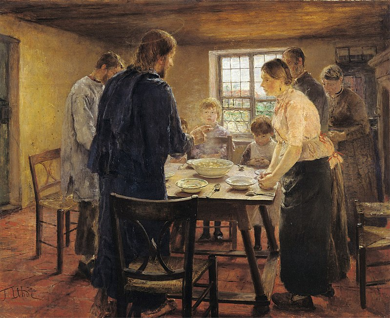 """Come Lord Jesus Be Our Guest"" by Fritz von Uhde"