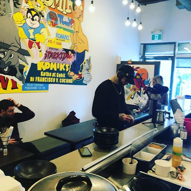 Lights, camera, action. We are filming a new video!! Stay tuned and see what we came up with! #yegdowntown #filipinofoodmovement #yegfoodie #uglydeliciousfood #filipinobbq @etown.eats