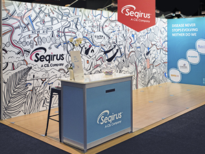 Seqirus Evolving Art conference stand
