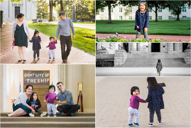 Family Photos at the United States Naval Academy
