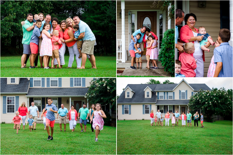 in home family photo session southern Maryland