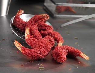 - Red velvet prawns