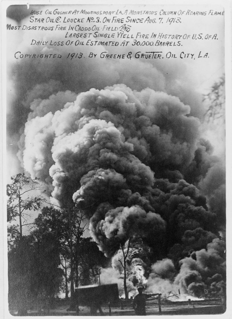 Oil well fire, Mooringsport, Louisiana, 1913