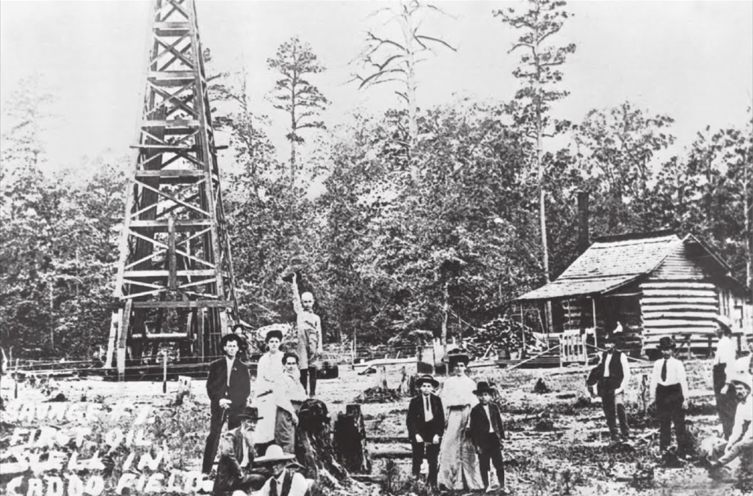 The Savage-Morrical No. 1, North Louisiana's first success full oil well, 1905.