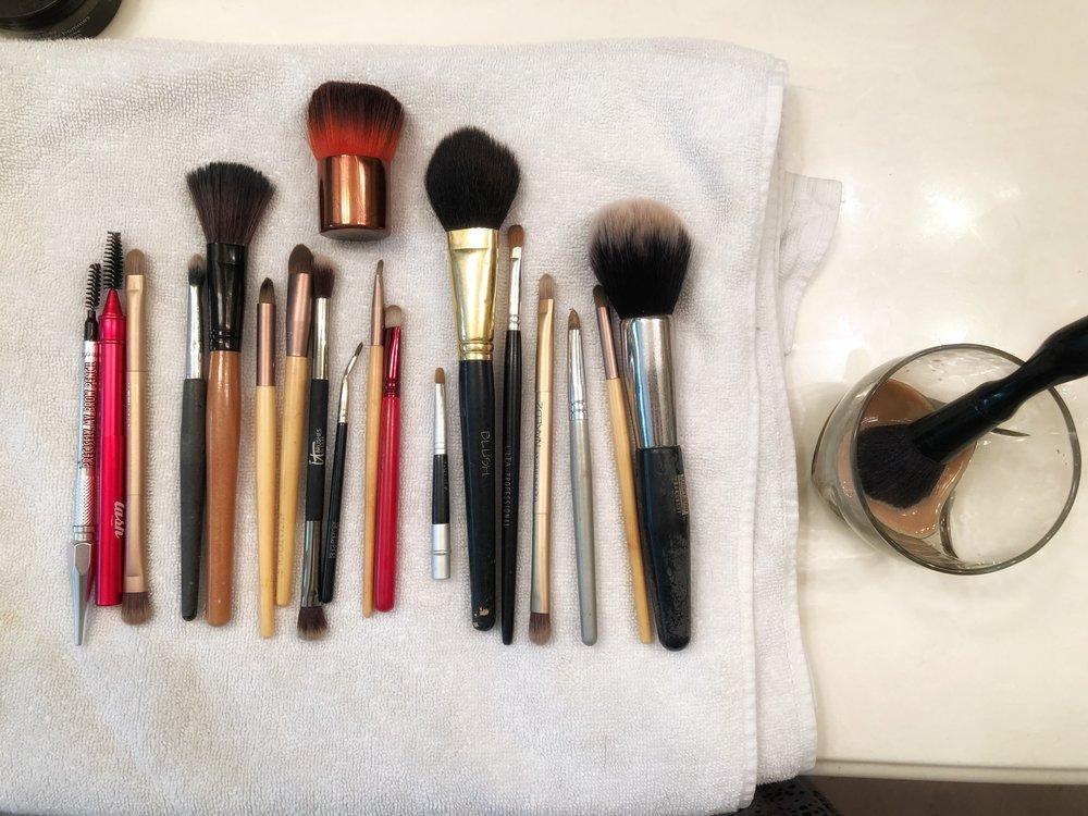 First makeup brush