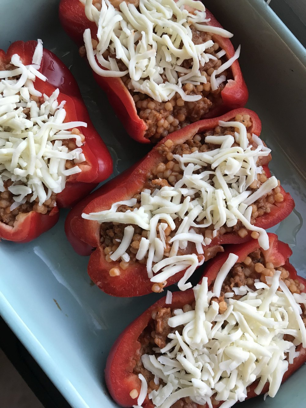 Stuffed Peppers   The perfect cool weather recipe - and when it can be made in under 30 minutes, it's pretty much a go-to weeknight meal!