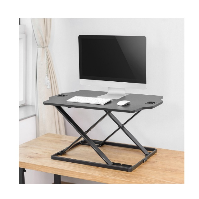 Standing Desk Converter  Ergonomic sit-stand desk allows me to change my posture as I'm working so that I can maintain a healthy working position.