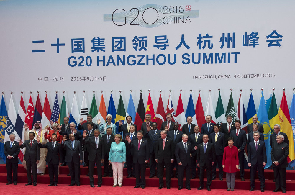 G20 member leaders previously gathered in China in September of 2016.  (Photo credit: Wikimedia)