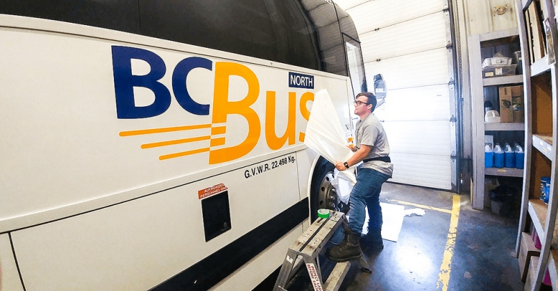 BC Bus North (Government of BC Photo,  The Prince George Citizen )
