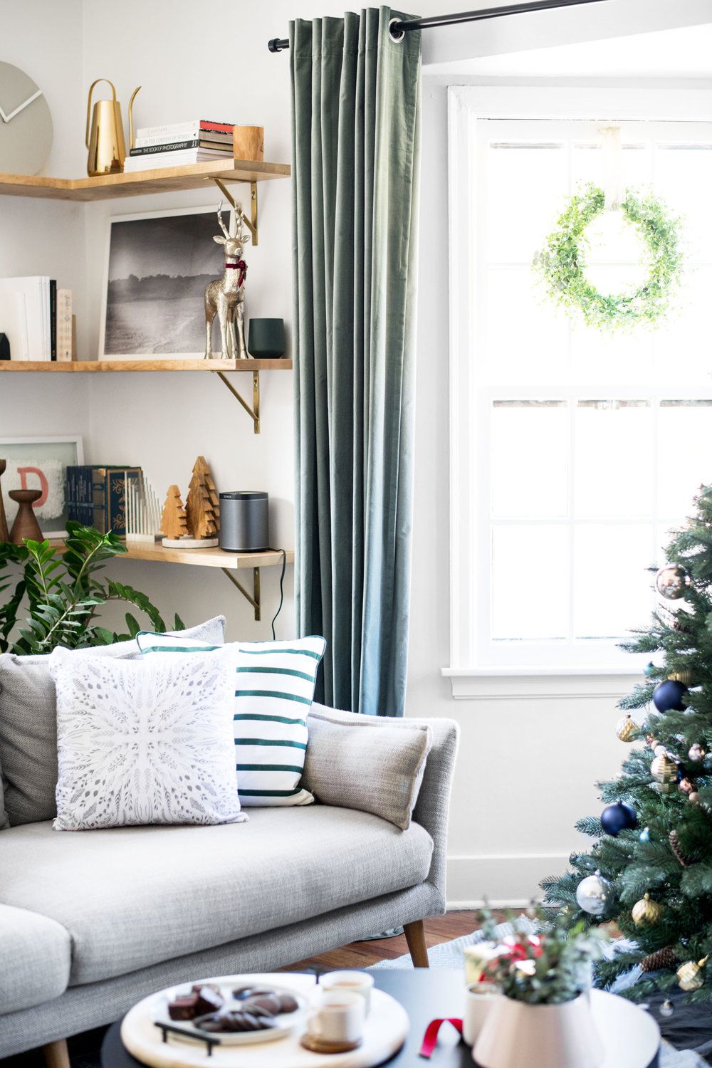 I love the fun holiday pillows that Lowe's had available online. These two work so well together and could even stay out after the New Year since they aren't too holiday specific.