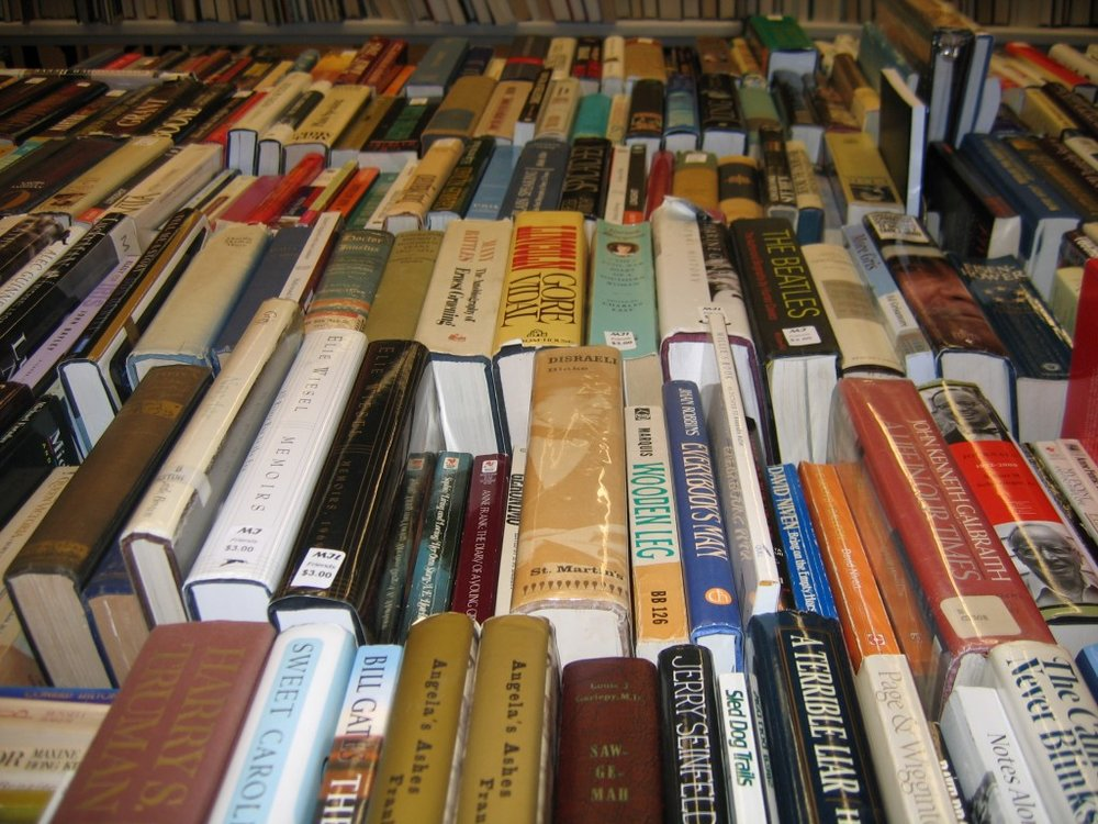 -  Come shop at the Friends of the Library book sale at any time during library hours. We will have 5-7 tables of gently used books at the entrance, with new titles added daily. Proceeds will be used to support the library.