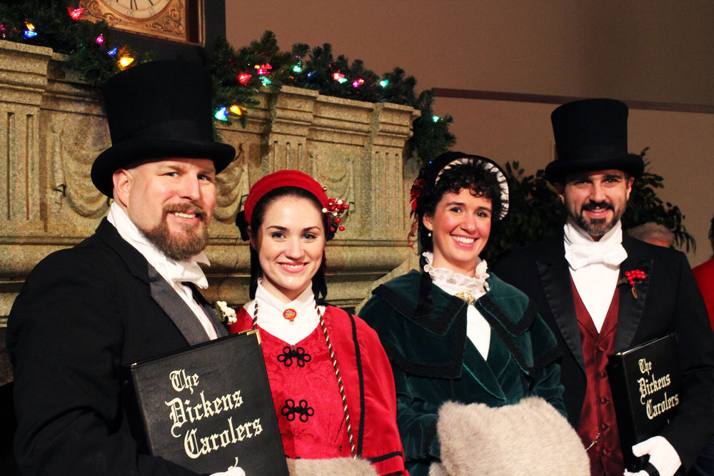- For 40 years, The Dickens Carolers has been a local holiday tradition. Your holiday favorites, both traditional and contemporary, are sung in beautiful four-part harmony.Sponsored by the Friends of the Mercer Island Library.