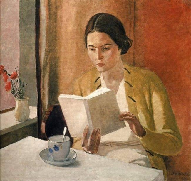 Woman reading, Alexander Deineka