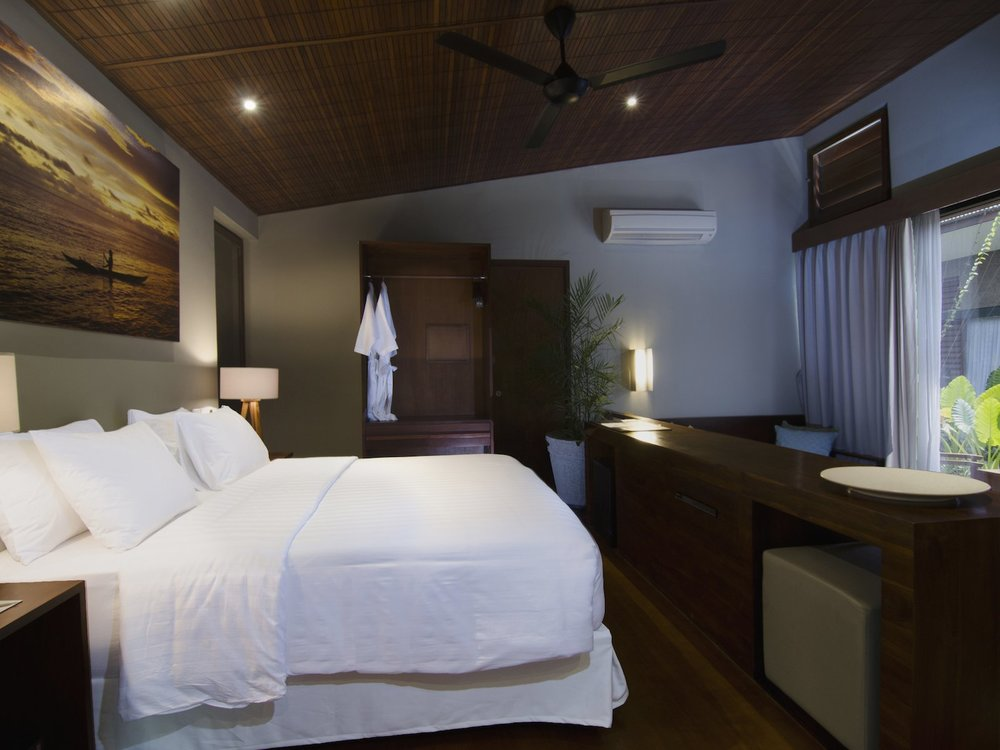 PACKAGE 1 - 2 x SUITE ROOMS ( Interconnecting rooms)     Family of Four $5250 AUD all inclusive    Two Adults + Two Children   under 12 years of age   Each room features a luxury Queen size bed, separate living area with fold out sofa bed, a private ensuite with shower, mini bar, high speed Wi-Fi internet, satellite TV, couch and study desk, in-room safe, ceiling fan and of course air-conditioning. The suite rooms are larger than the Resort rooms and offer additional luxuries such as pillow menu, evening turn down service, a retracting TV console and outdoor setting. Online Booking fees apply. No discount for less children in room, additional children can be added to booking at additional cost.   *10% Discount Early Birds Special Ends Sept 30th 2018