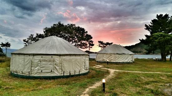 Naoshima Tsutsujiso Yurts  (glamping)