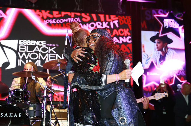 Janet Jackson and Missy Elliott attend the ninth annual Essence Black Women in Music event at the Highline Ballroom on Jan. 25, 2018 in New York City.