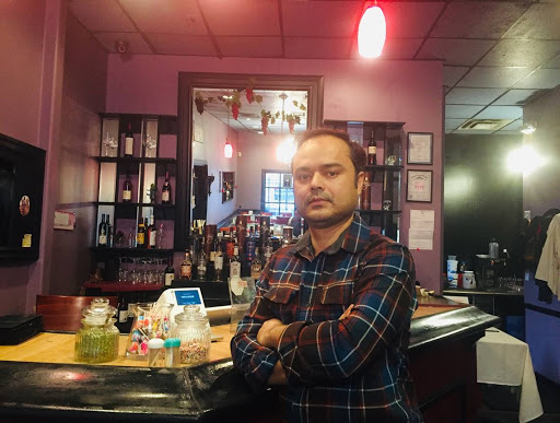 Shree Krishna Giri, owner of Tikka House