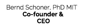 Bernd Schoner, CEO