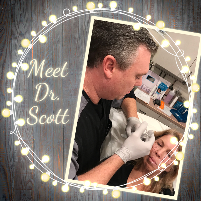 Dr. Jeffrey L. Scott has been in practice for over 14 years and holds advanced certifications in medical aesthetics. His specialties include laser skin rejuvenation, NovaThread facelifts, injectable facelifts, neuromodulators (Botox®, Dysport®, Xeomin®), dermal fillers (JUVÉDERM®, Radiesse®, Belotero®), and Kybella®. In addition to holding certifications from Allergan, Merz, and Galderma, he is a graduate from both Cutera's truSculpt® 3D and Zeltiq's CoolSculpting® body sculpting universities.  Dr. Scott is board certified by the American College of Osteopathic Family Physicians.
