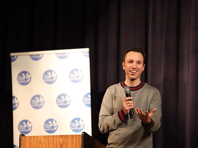October 18—Markus Zusak makes Houston laugh at his event celebrating BRIDGE OF CLAY, his first release since THE BOOK THIEF hit shelves 13 years ago. More photos available on Blue Willow Bookshop's Facebook page.