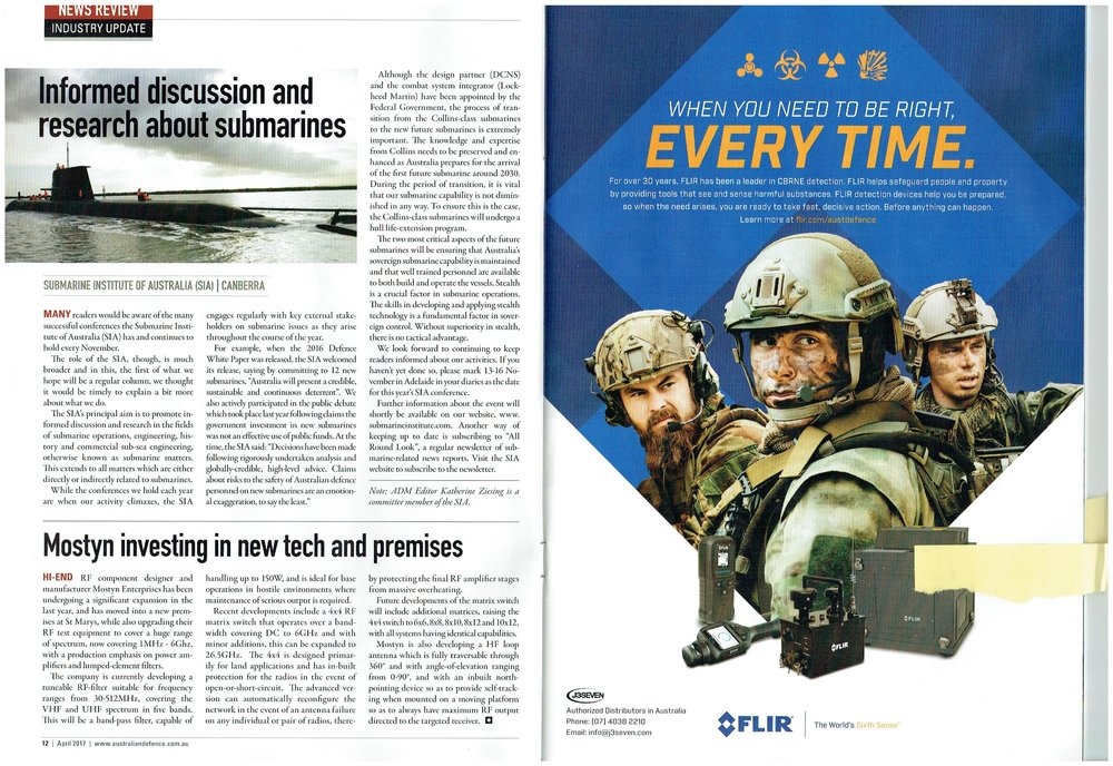 Australian Defence Magazine extract