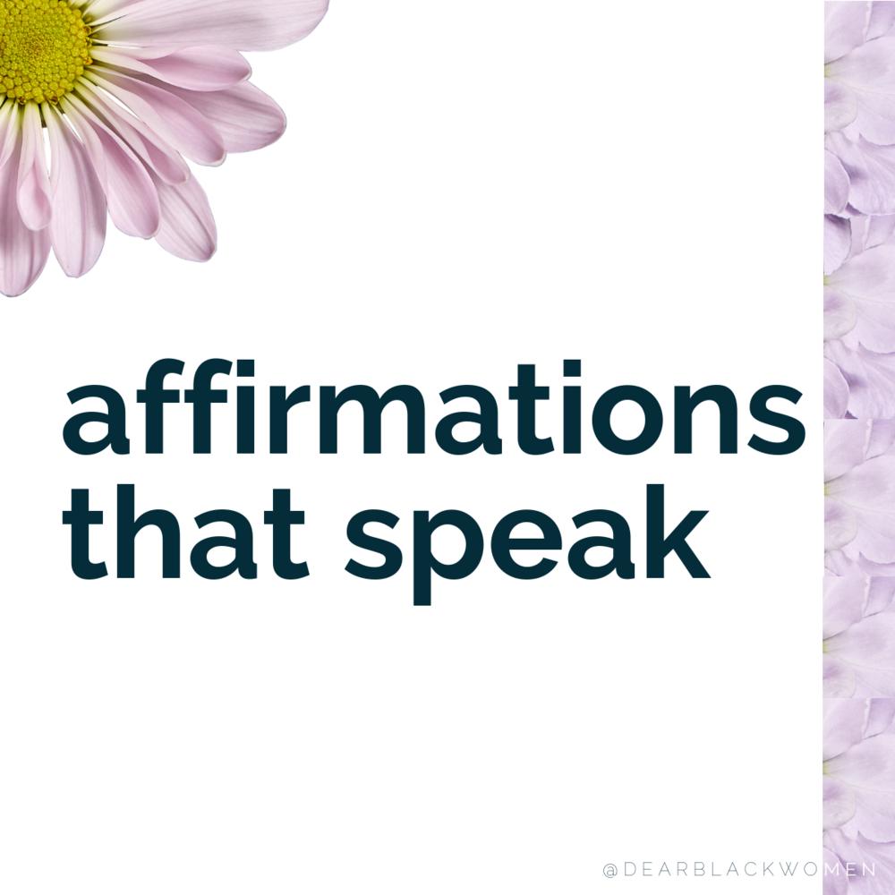 Affirmations that Speak