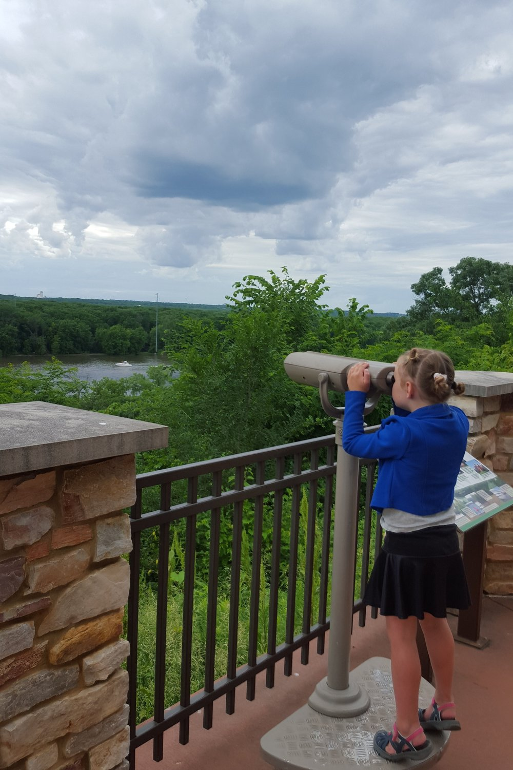 Taking a look at where the Mississippi River and the St. Croix River meet in Prescott, WI.