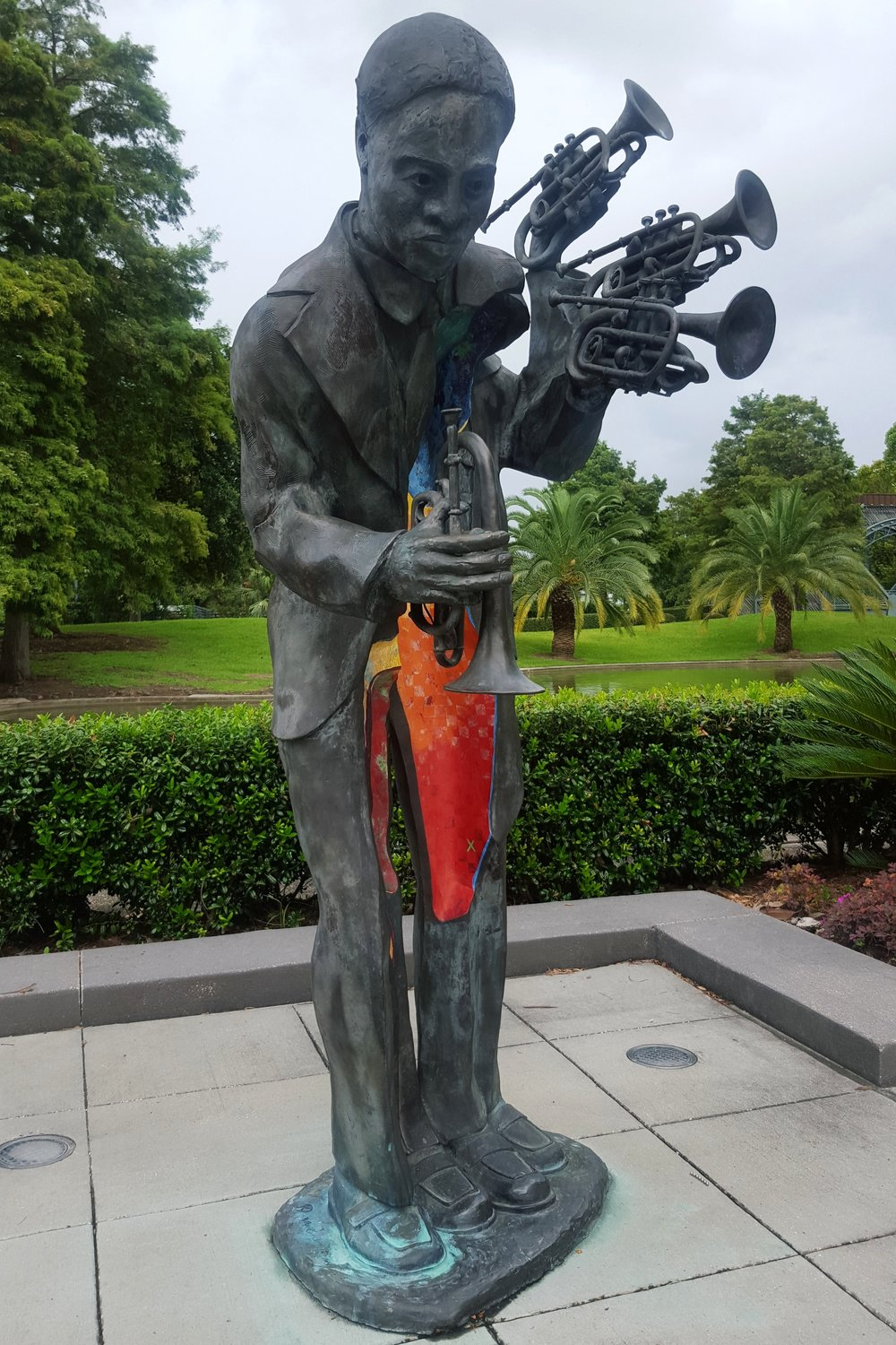 One of many beautifully sculpted statues in   Louis Armstrong Park   ,  New Orleans, LA