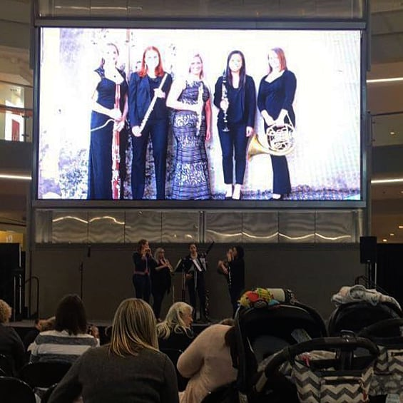 It was fun performing below a giant image of ourselves at @mallofamerica this morning!