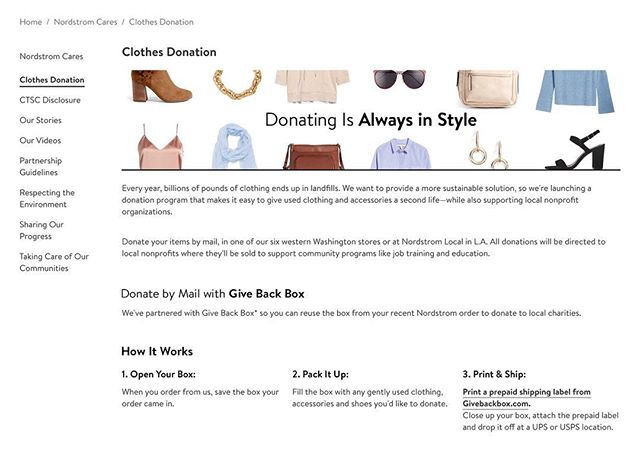 I just received this email from Nordstrom. What a wonderful idea to encourage people to let go of clothing that no longer sparks joy and donate to local charities. Thank you Nordstrom for doing your part to help #organizetheworld. #konmari #donate #nordstrom #letitgo #givebackbox