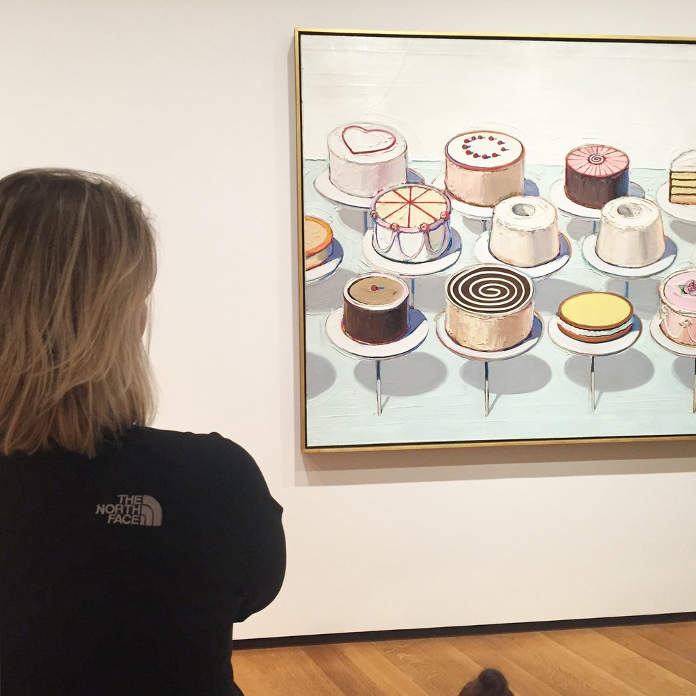 I recently visited D.C. and had the chance to visit with Thiebaud's marvelous  Cakes  in person. That would be me on the left.