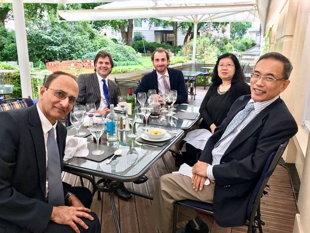 A working group out of many meet at the Antheneum Club in Pall Mall, London. August 2017. The Club had 52 members who were Nobel Prize Winners. It has always been the venue where many good ideas began life. Peregrine - A ten year endeavour for the next millennium.