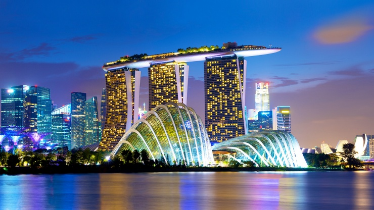 Energy powers economies. Marina Bay Singapore.