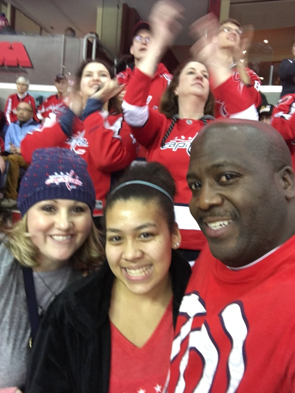 Hockey- we are a sports family. Any sport! Sara, Aleks and Shawn went to our first Washington Capitals game!