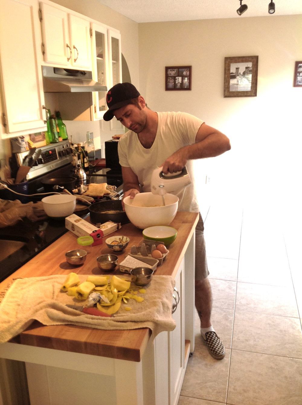 At work in the kitchen