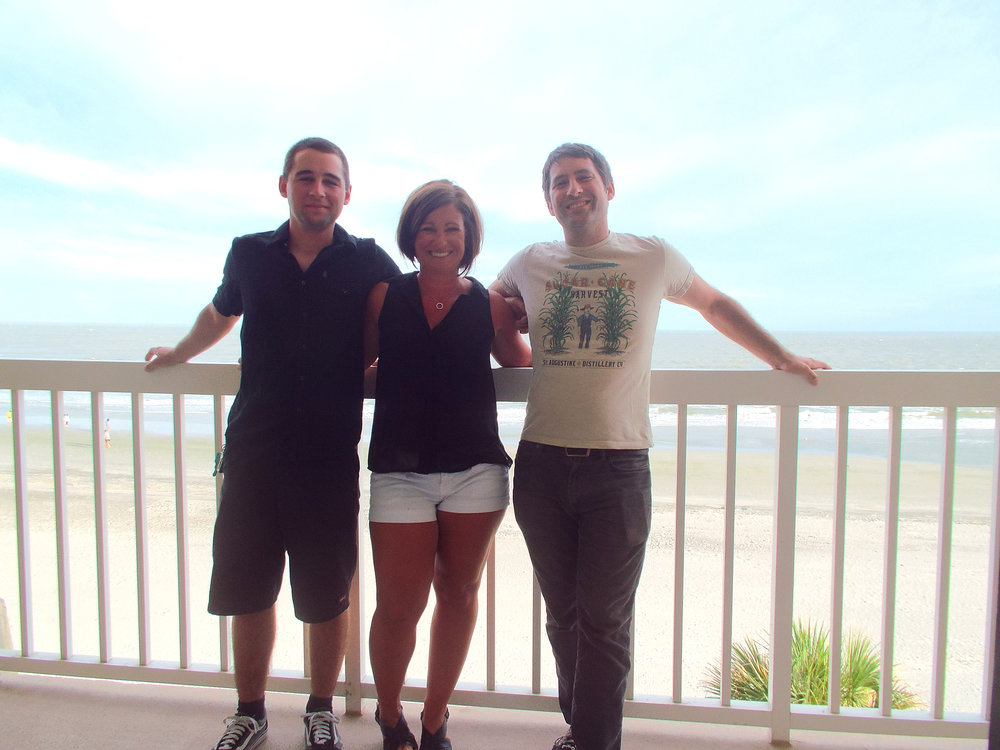 Beach vacation with Bob's family.... a favorite tradition