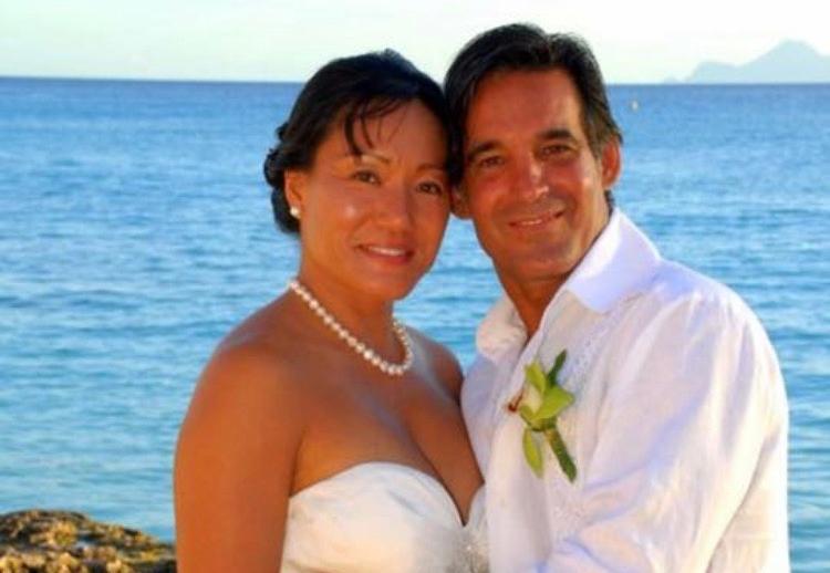 We were married in St. Maarten!