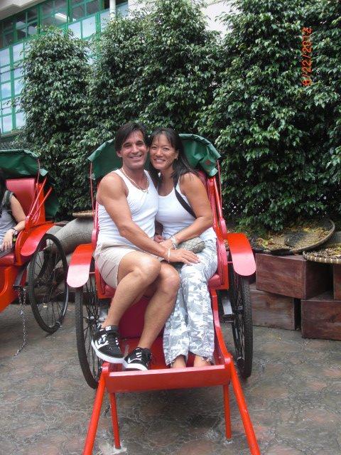 Rickshaw ride in Hong Kong
