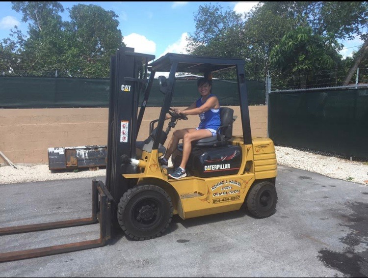 Testing out our new fork lift