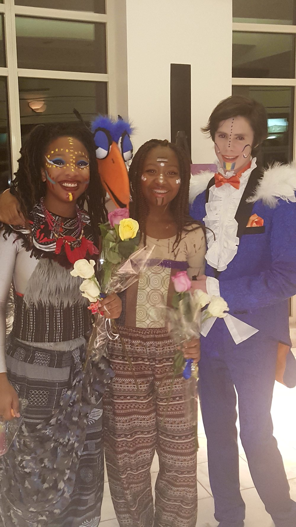 Asata and friends after the Lion King
