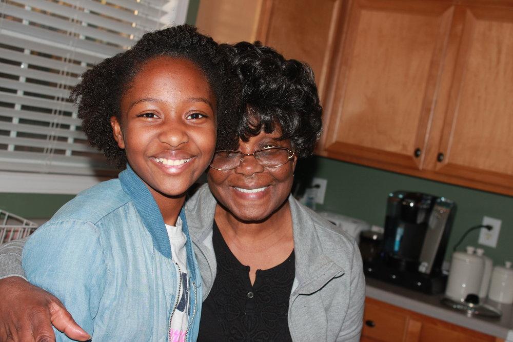 Asata with Granny