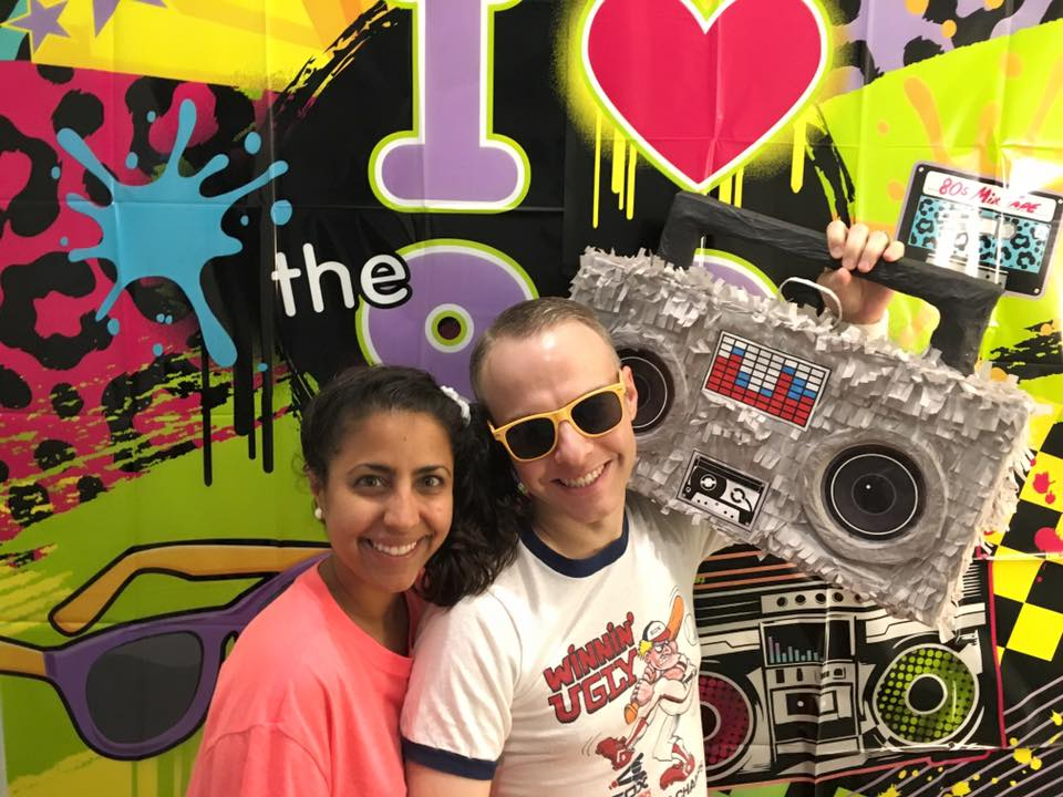 We love a good theme party, including this 80s themed bash!