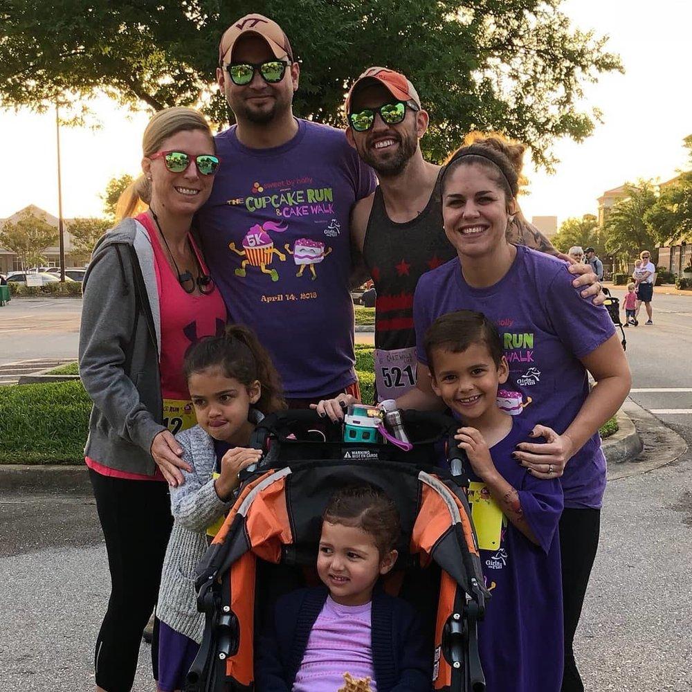Cupcake 5k run with family