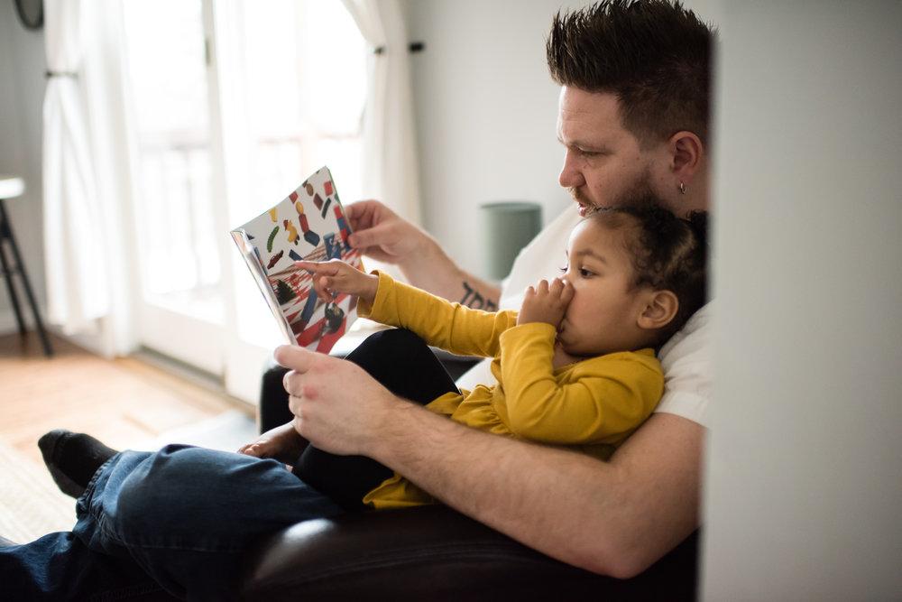 Michael reading to Selah