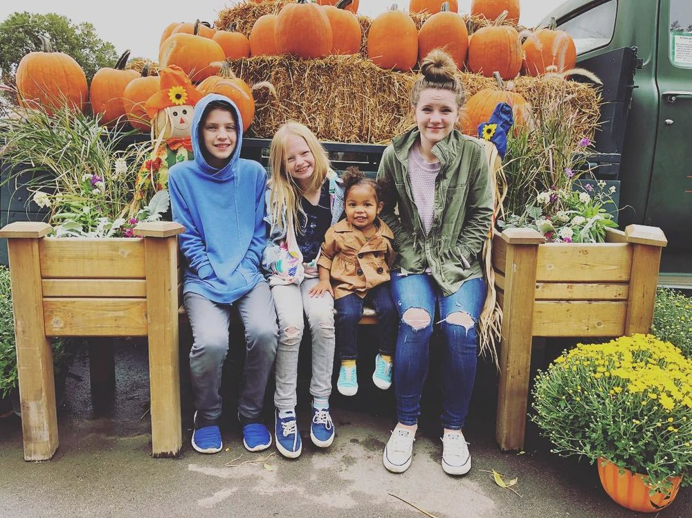 Cold day at the pumpkin patch