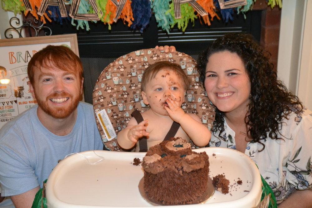 Brady's 1st Birthday party