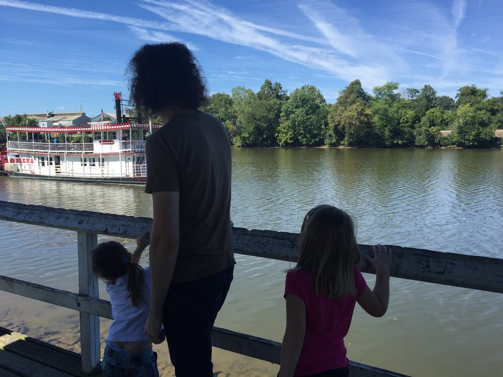 Enjoying a day out with our nieces